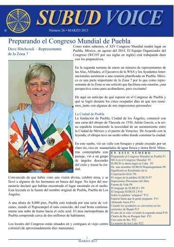 Preparando el Congreso Mundial de Puebla - Subud Voice