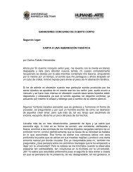 GANADORES CONCURSO DE CUENTO CORTO Segundo lugar ...