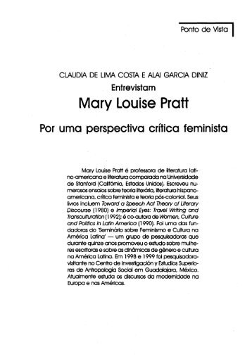 Mary Louise Pratt - Educ
