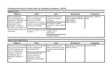 3.4 Prospecções do Setor de Ciências Exatas e de Tecnologia de ...