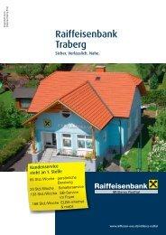 Öffnungszeitenänderung in der Bankstelle Traberg zum Download ...