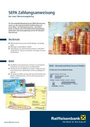 SEPA Zahlungsanweisung (pdf) - Raiffeisen