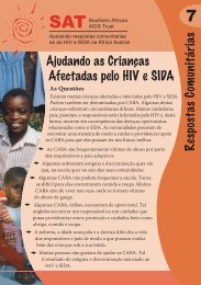 Ajudando as Crianças Afectadas pelo HIV e SIDA - Southern African ...
