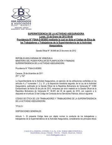 Codigo de Etica de l.. - RBR Abogados & Asociados