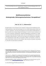 Referatsunterlagen von Prof. Radermacher zum Download