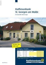 Folder St. Georgen a.W. 3-10.indd - Raiffeisenbank Mühlviertler Alm