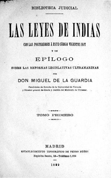 Las leyes de Indias - Universidad de Sevilla