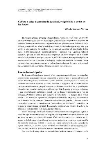 Cabeza y cola: Expresión de dualidad, religiosidad y poder en los ...