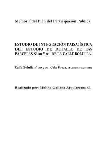 memoria plan participacion pública - Ayuntamiento de El Campello
