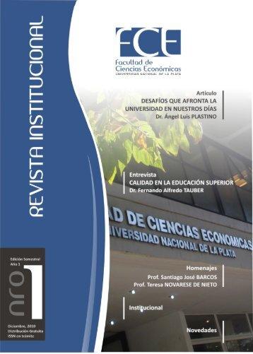 Revista Institucional FCE nro 1 - Facultad de Ciencias Económicas ...