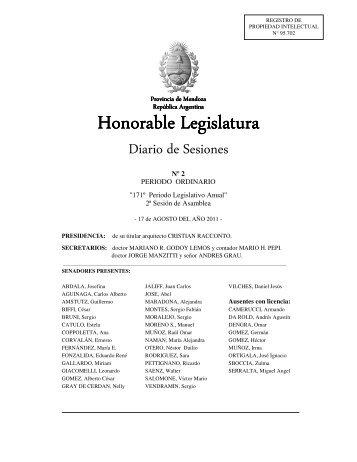 Honorable Legi Honorable Legislatura - H. Cámara de Senadores