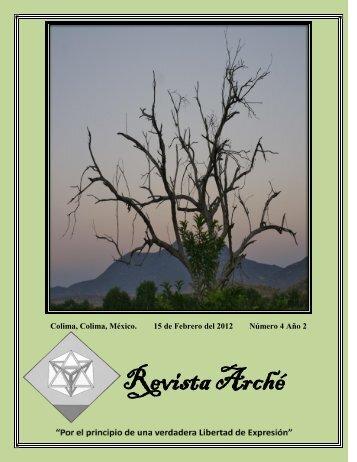 Portada - Revista Arché
