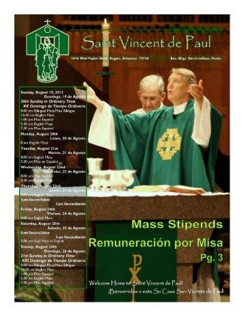 Bulletin 8-19 - Saint Vincent de Paul Catholic Community