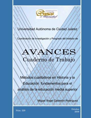 Avances 229. Calderón Rodríguez - Universidad Autónoma de ...