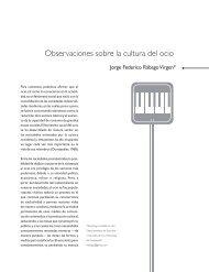 Observaciones sobre la cultura del ocio - Entretextos - Universidad ...