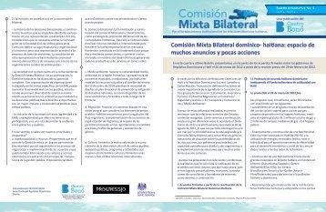 Descarga aquí el Boletín CMB no. 4 - Centro Bonó