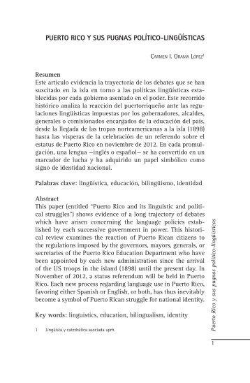 puerto rico y sus pugnas político-lingüísticas - Portal de Lenguas de ...