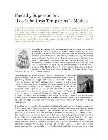 """Piedad y Superstición: """"Los Caballeros Templarios"""" - Mística"""