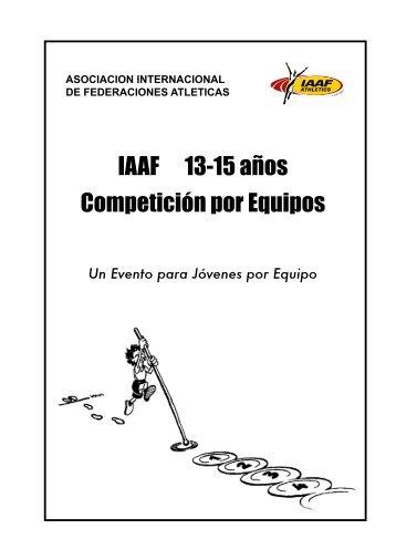 IAAF 13-15 años Competición por Equipos - Asociación de ...