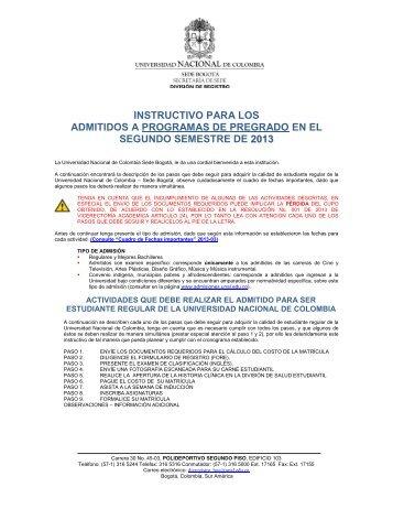 instructivo para el registro de admitidos de pregrado 2013-03