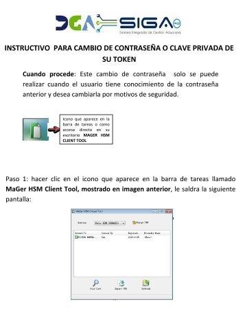 INSTRUCTIVO PARA CAMBIO DE CONTRASEÑA O CLAVE ...