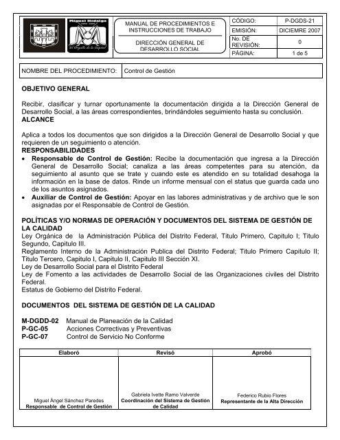 Formato Para Instructivos Delegación Miguel Hidalgo