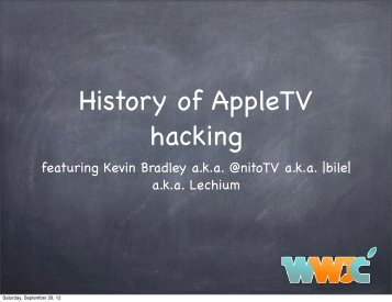history of appletv hacking