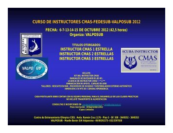 CURSO DE INSTRUCTORES CMAS-FEDESUB-VALPOSUB 2012