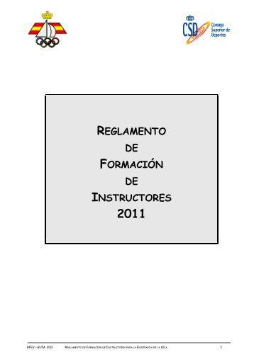 RFEV/Reglamento de formación de Instructores - Real Federación ...