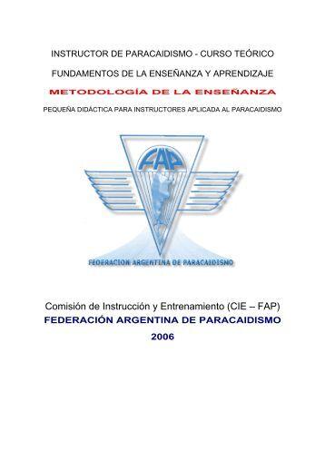 instructor de paracaidismo - curso teorico - Federacion Argentina de ...