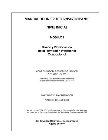MANUAL DEL INSTRUCTOR/PARTICIPANTE - INSAFORP