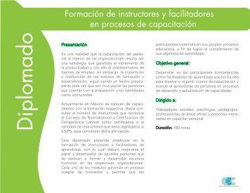 Diplomado. Formación de instructores y faci