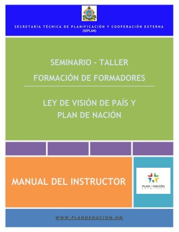 Manual del Instructor Formación de Formadores.pdf - Seplan