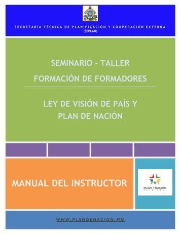 Manual del Instructor Formación de Formadores.pdf - Seplan