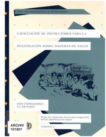 Serie de capacitacion ISS Volumen 5: Capacitacion de instructores ...
