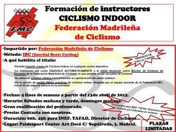 formación DE instructores de CICLISMO INDOOR POR LA ...