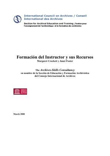 Formación del Instructor y sus Recursos - Archivo General de la ...