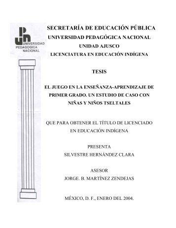 TESIS DE LICENCIATURA - Universidad Pedagógica Nacional