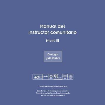 Manual del instructor comunitario. Nivel III - conafe.edu.mx