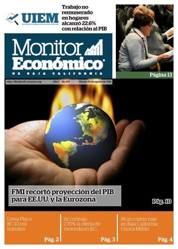 FMI recortó proyección del PIB para EE.UU. y la Eurozona - Monitor ...