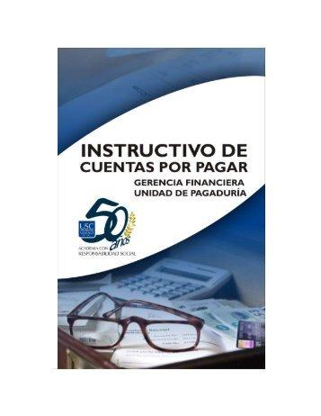 Instructivo Cuentas Por pagar - Universidad Santiago de Cali