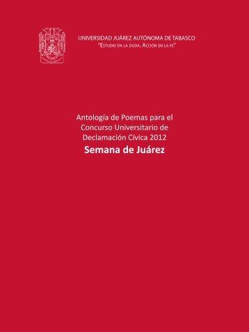 Antología de Poemas - Universidad Juárez Autónoma de Tabasco