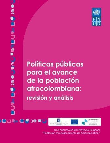 Políticas públicas para el avance de la población afrocolombiana:
