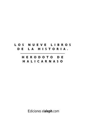 Los nueve libros de la Historia (libro I)