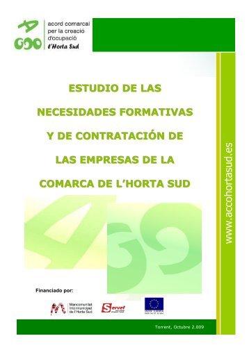 Acceso al estudio - Mancomunitat Intermunicipal de l'Horta Sud