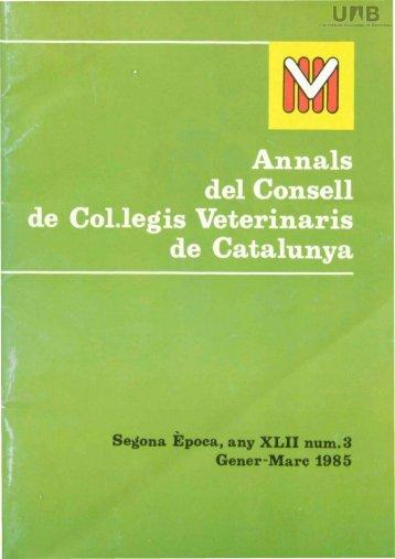 Annals del Consell Col·legis Veterinaris de Catalunya