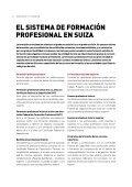 LA FORMACIÓN PROFESIONAL EN SUIZA - admin.ch - Page 4