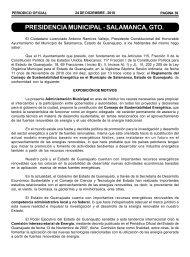 PRESIDENCIA MUNICIPAL - SALAMANCA, GTO.
