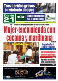 Tres heridos graves en violento choque - Diario 21