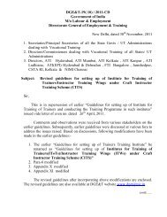 Revised Guidelines for setting up of Institute for Training of Trainers